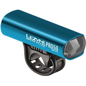 Lezyne Hecto Drive Pro 50 Frontlicht StVZO Y11 blau-glänzend/weiß
